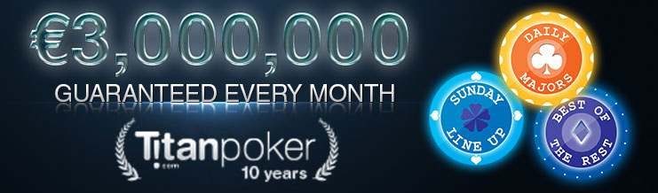 Турниры с призовым фондом до 3 миллионов евро в руме Titan Poker.